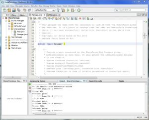 SharePoint Java Application Netbeans Screenshot
